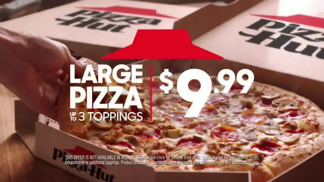 Pizza Hut Large 3-Topping Pizza TV Commercial Ad 2020, Try Something Different