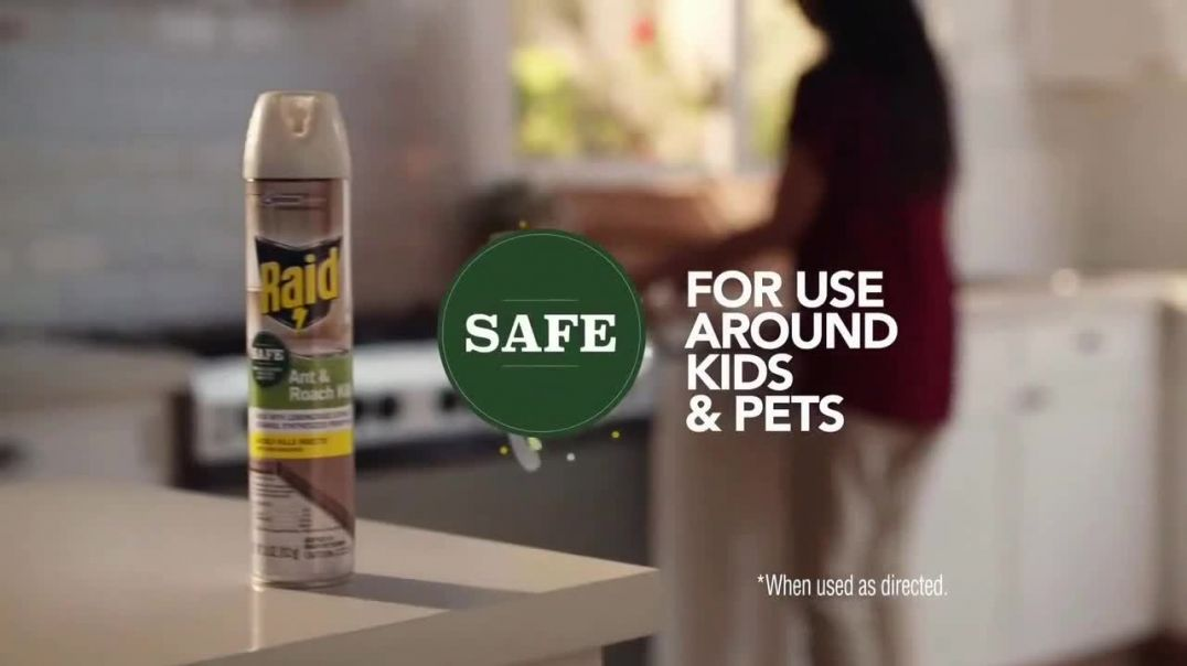Raid Ant & Roach Killer 27 TV Commercial Ad 2020, Sippy Cup