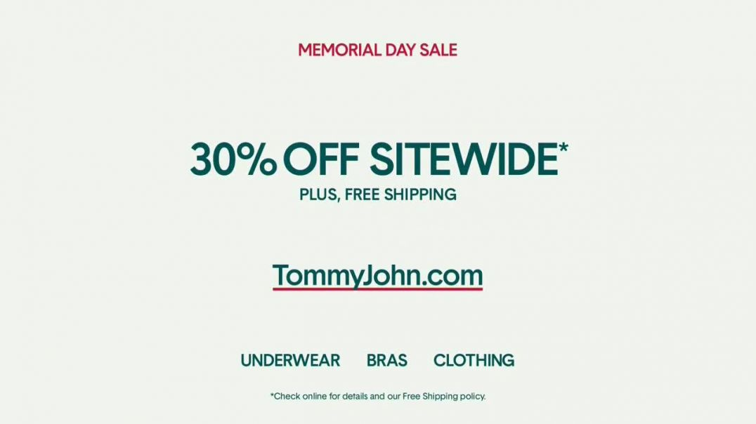 Tommy John Memorial Day Sale TV Commercial Ad 2020, 30 Percent Off