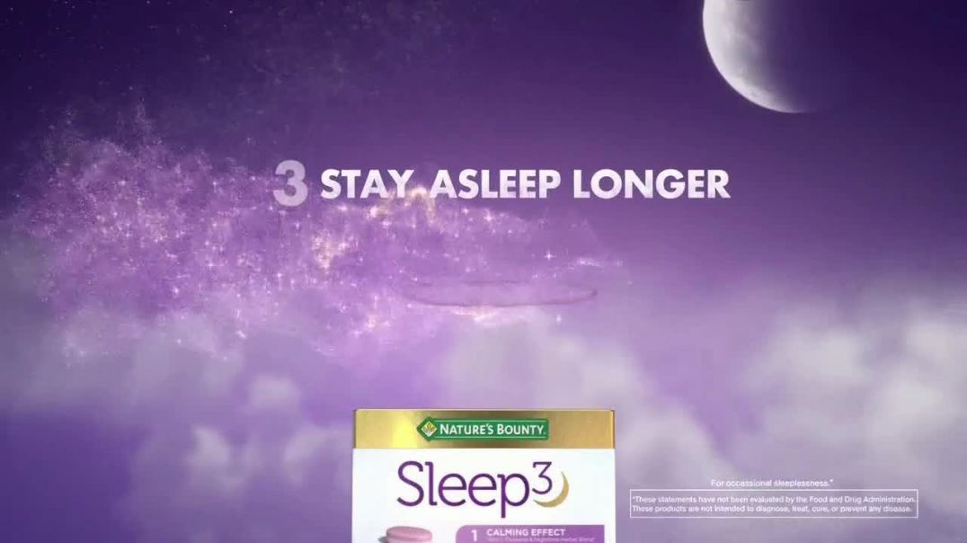 Natures Bounty Sleep3 TV Commercial Ad 2020, Unique Supplement