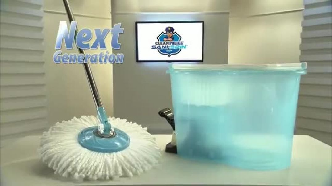 Clean Police Sani Spin TV Commercial Ad 2020, The Next Generation Mop  $39 99