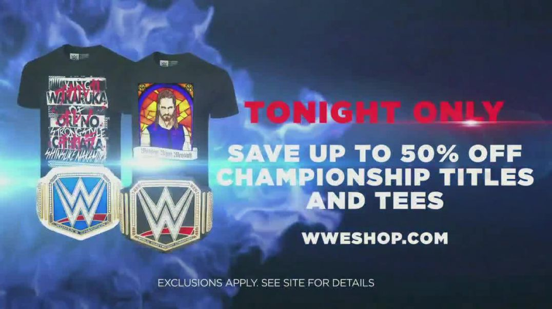 WWE Shop TV Commercial Ad 2020, Join the Universe 50 Percent Off Championship Titles & T