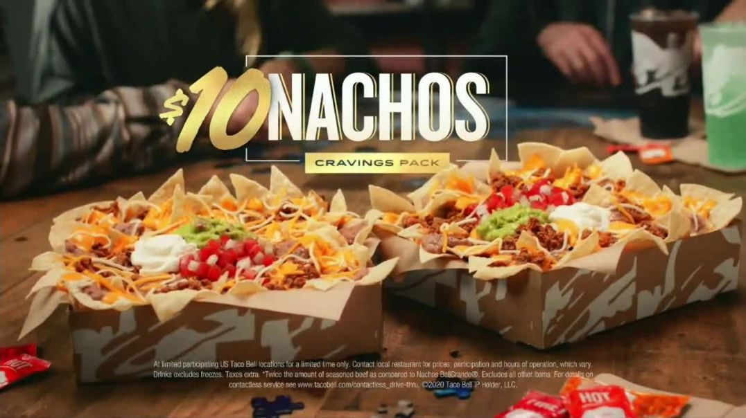 Taco Bell $10 Nachos Cravings Pack TV Commercial Ad 2020, More