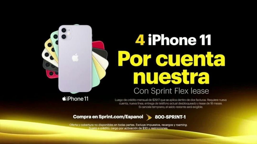 Sprint Unlimited TV Commercial Ad 2020, Cuatro Apple iPhone 11