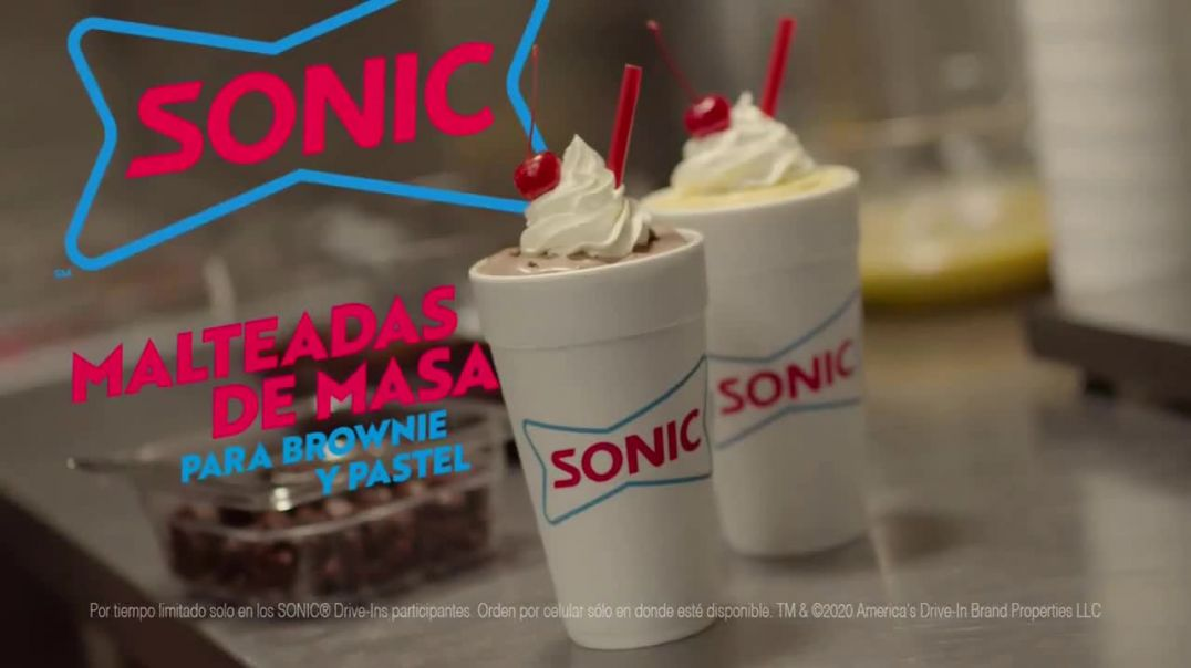 Sonic Drive-In Batter Shakes TV Commercial Ad 2020, Brownie y pastel