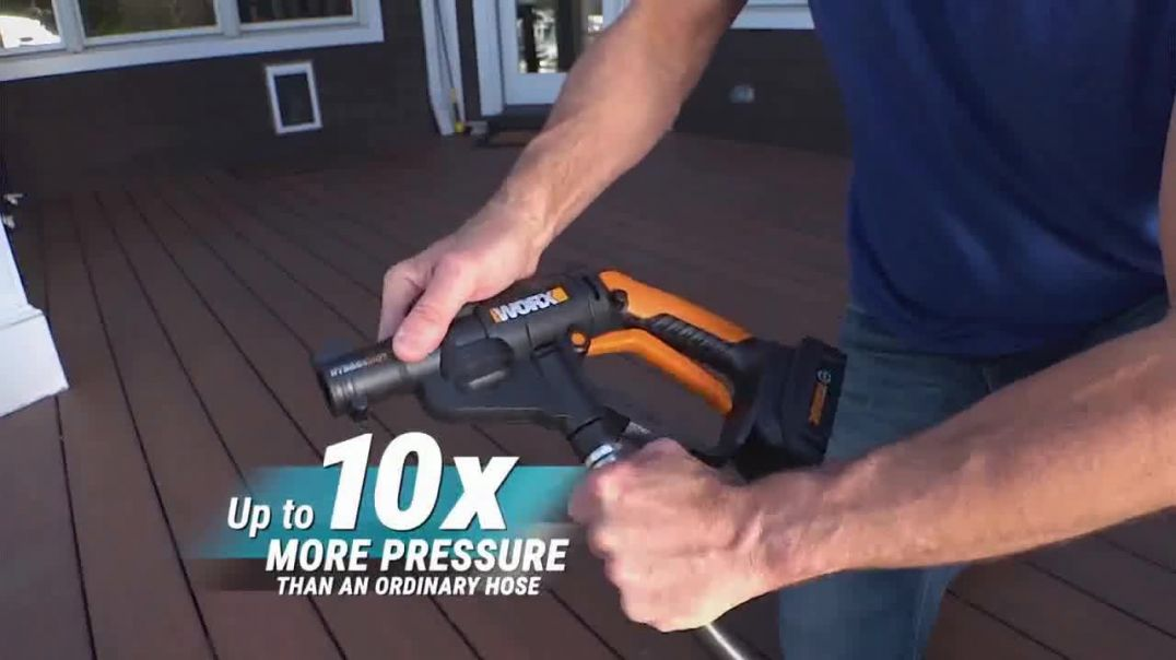 Worx Hydroshot TV Commercial Ad 2020, Pressure Cleaning Anytime