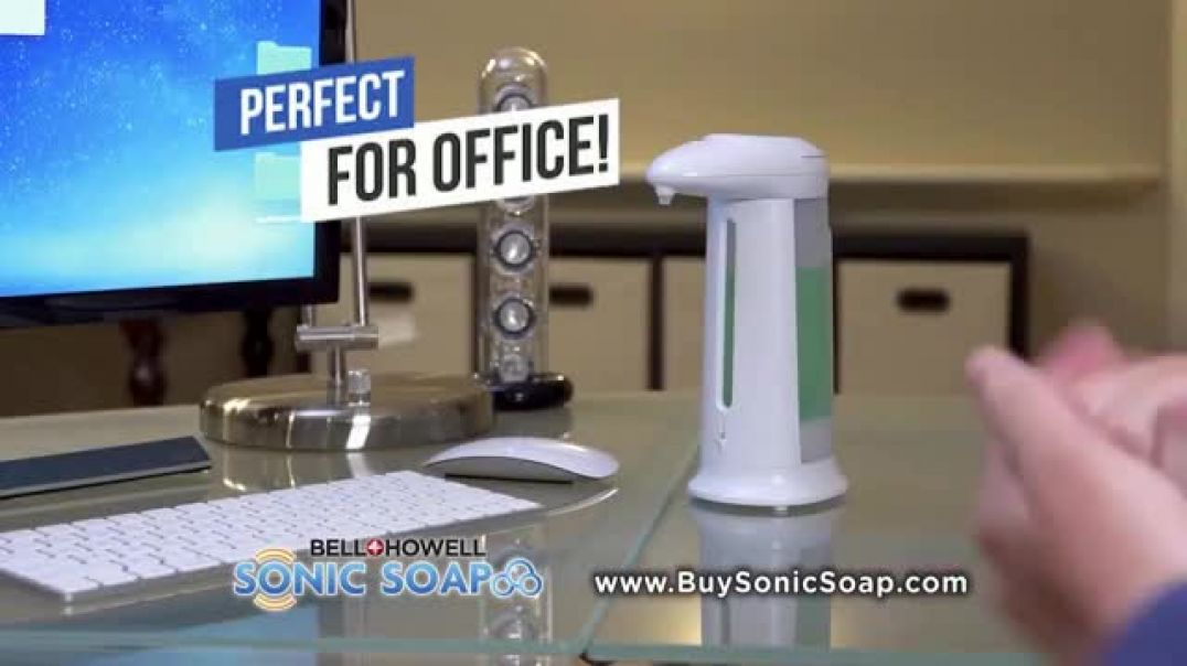 Bell + Howell Sonic Soap TV Commercial Ad 2020, Hands Free Design
