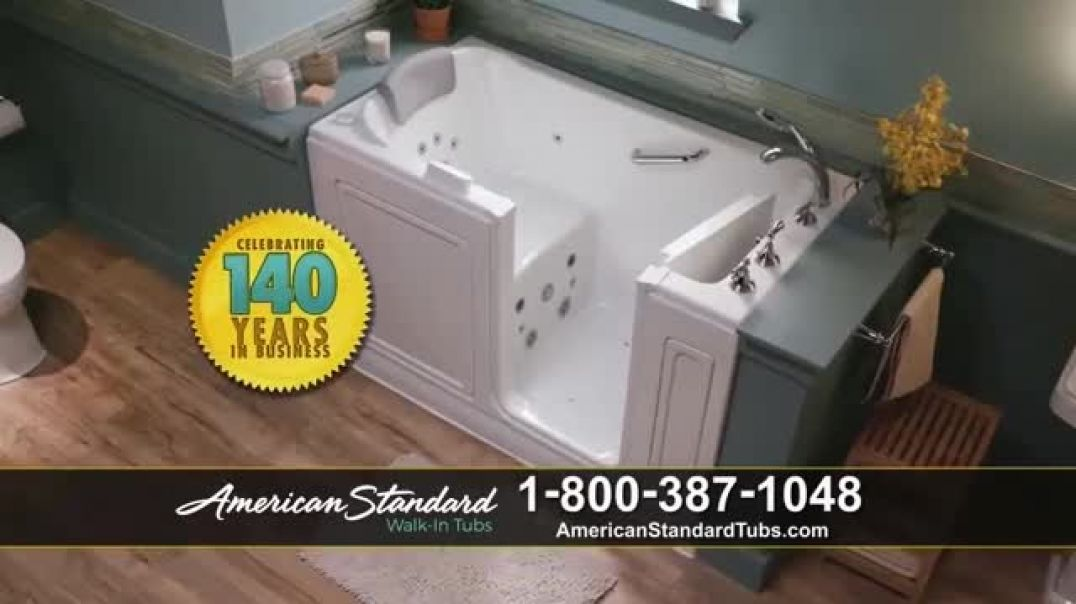 American Standard Walk In Tubs TV Commercial Ad 2020, Stay Safe