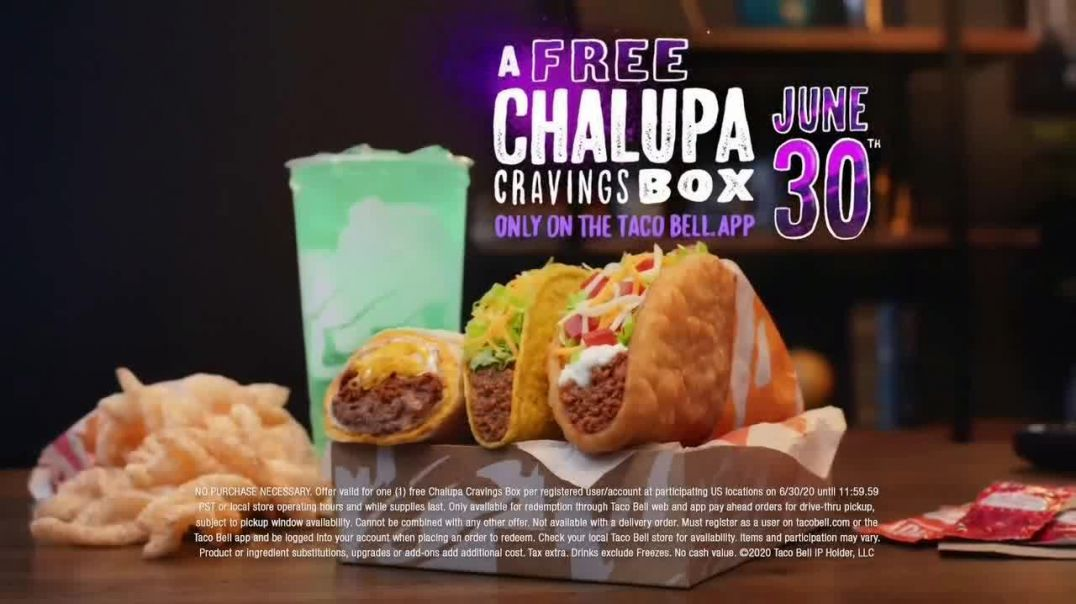 Taco Bell App TV Commercial Ad 2020, Free Chalupa Cravings Box