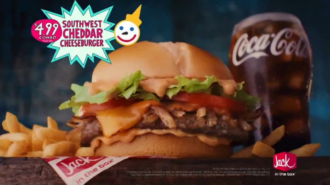 Jack in the Box Southwest Cheddar Cheeseburger Combo TV Commercial Ad 2020, Menutaur- The Best- $499