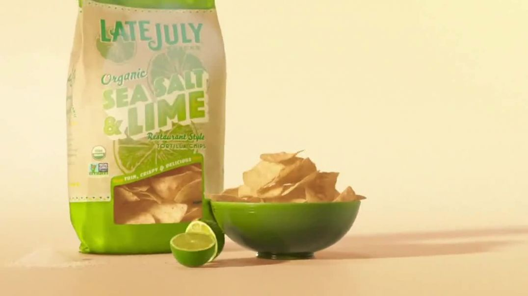 Late July Tortilla Chips Organic Sea Salt & Lime TV Commercial Ad 2020, Passion and Craf