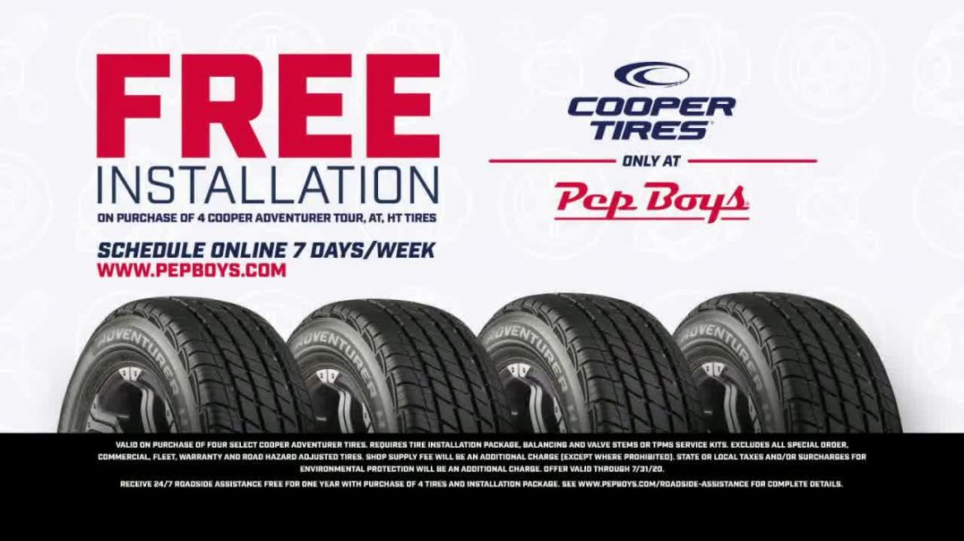 PepBoys TV Commercial Ad 2020, The Doors Are Open- Cooper Tires