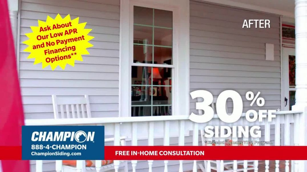 Champion Siding Stimulus Plan TV Commercial Ad 2020, The Best Time- 30 Percent Off