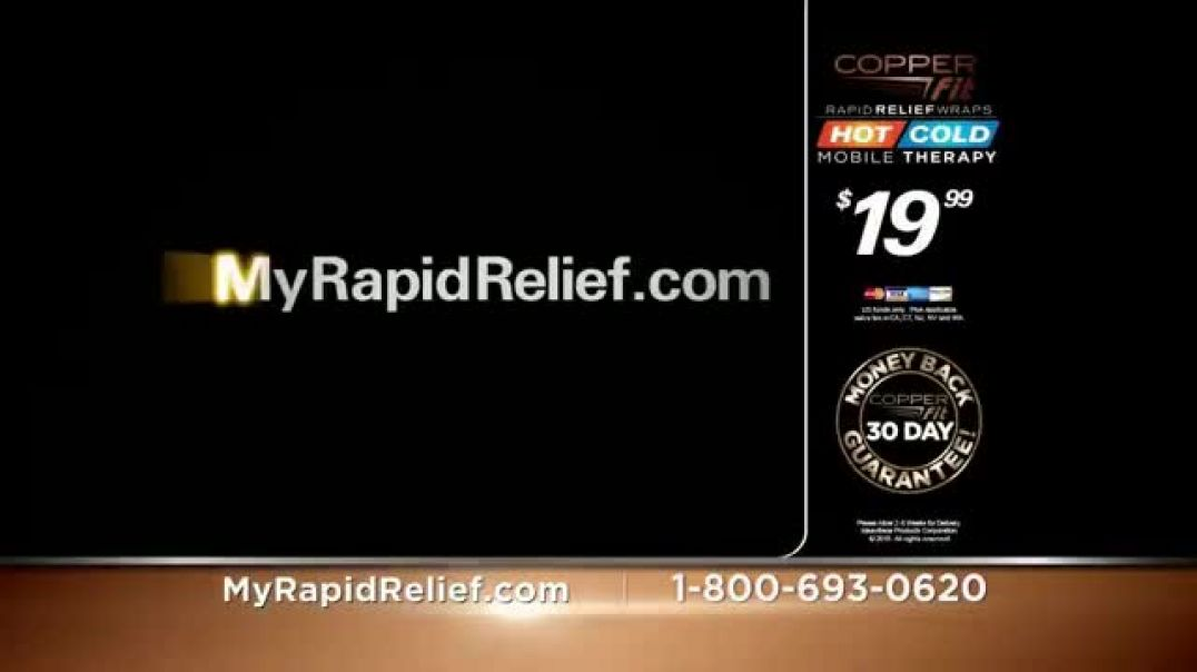 Copper Fit Rapid Relief Knee Wraps TV Commercial Ad 2020, The Best Solution