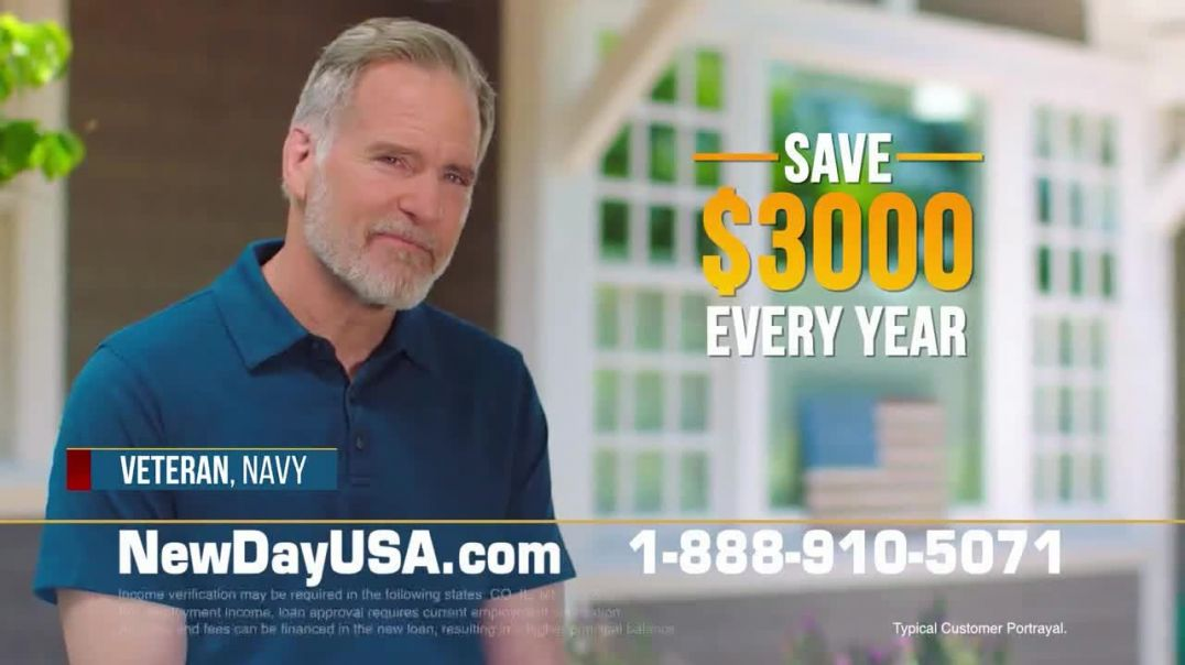 NewDay USA VA Streamline REFI TV Commercial Ad 2020, All Veterans