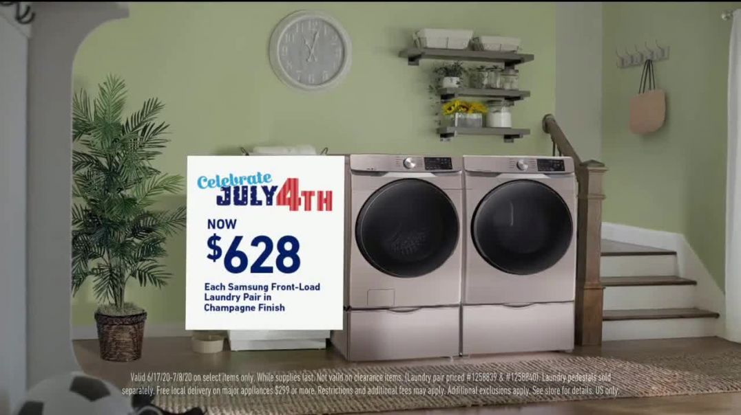 Lowes TV Commercial Ad 2020, Celebrate July 4th- Samsung Laundry Pair