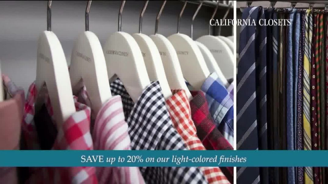 California Closets TV Commercial Ad 2020, Every Visit- Save 20 Percent