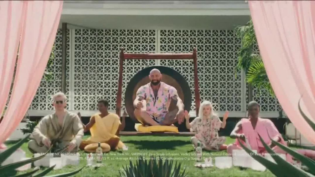 Smirnoff Zero Sugar Infusions TV Commercial Ad 2020, Guided Meditation Featuring Dave Bautista