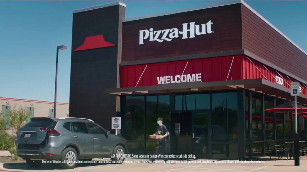 Pizza Hut Contactless Curbside Pickup TV Commercial Ad 2020, Safe & Easy