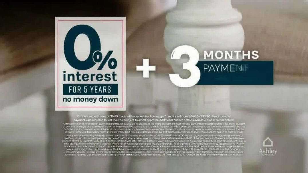 Ashley HomeStore Stars and Stripes Sale TV Commercial Ad 2020, Final Days- 25 Percent Off