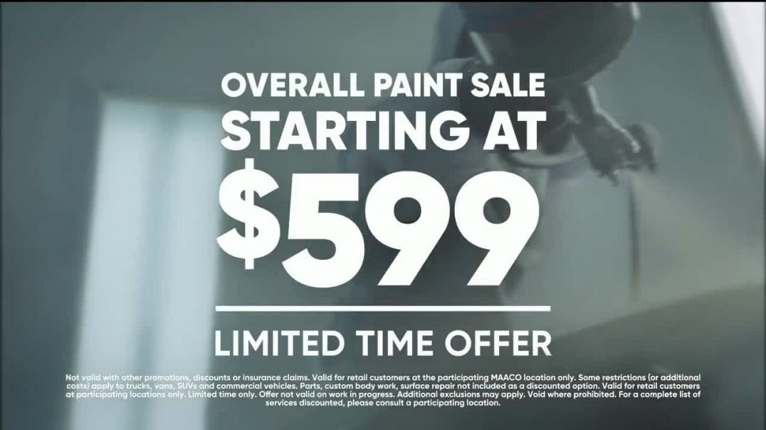 Maaco Overall Paint Sale TV Commercial Ad 2020, Fried Egg- $599