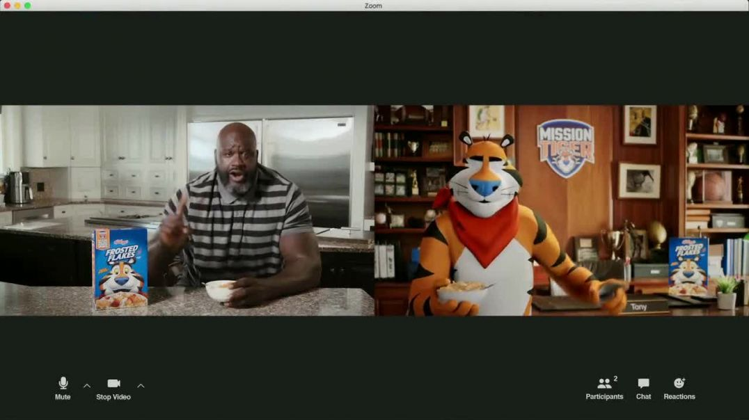 Frosted Flakes TV Commerial Ad 2020, Mission Tiger- Tit-for-Tat Featuring Shaquille ONeal