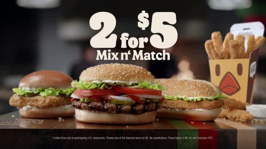 Burger King 2 for $5 Mix n' Match TV Commercial Ad 2020, 'Christmas in July- Free Delivery' Featurin