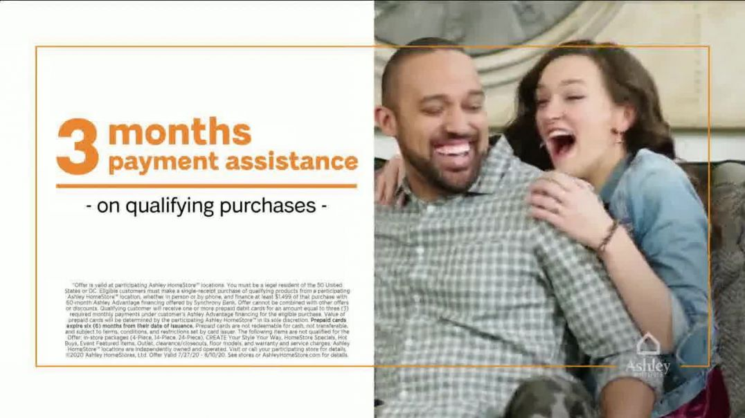 Ashley HomeStore Ashley Cares Relief Program TV Commercial Ad 2020, Zero Percent Financing