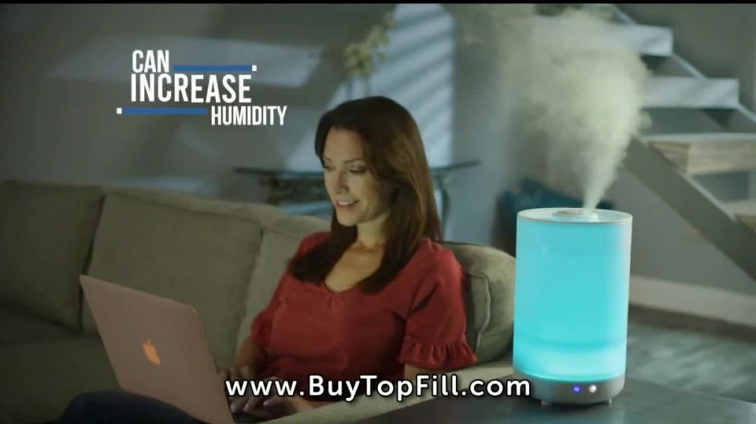 Top Fill Ultrasonic Color Changing Humidifier TV Commercial Ad 2020, Cool Moist Air