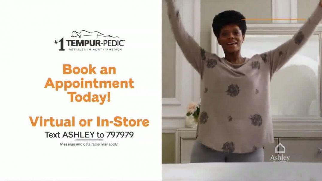 Ashley HomeStore End of Season Mattress Event TV Commercial Ad 2020, Final Days- Tempur-Pedic