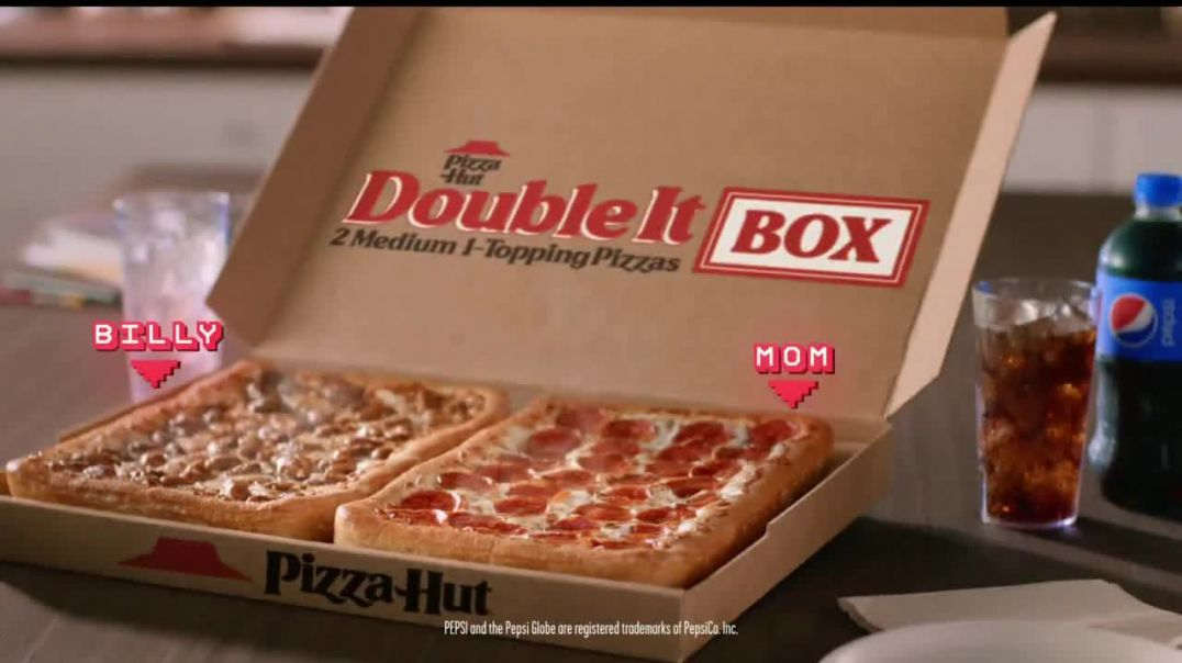 Pizza Hut Double It Box TV Commercial Ad 2020, One for You and One for Them