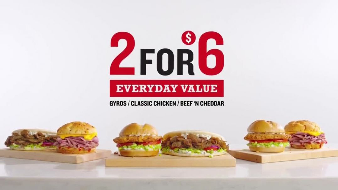 Arbys 2 for $6 Everyday Value Menu TV Commercial Ad 2020, All Other Days Song by YOGI