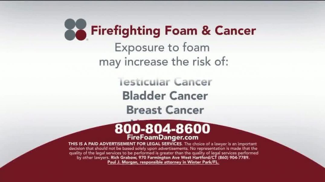 Sokolove Law TV Commercial Ad 2020, Firefighting Foam & Cancer