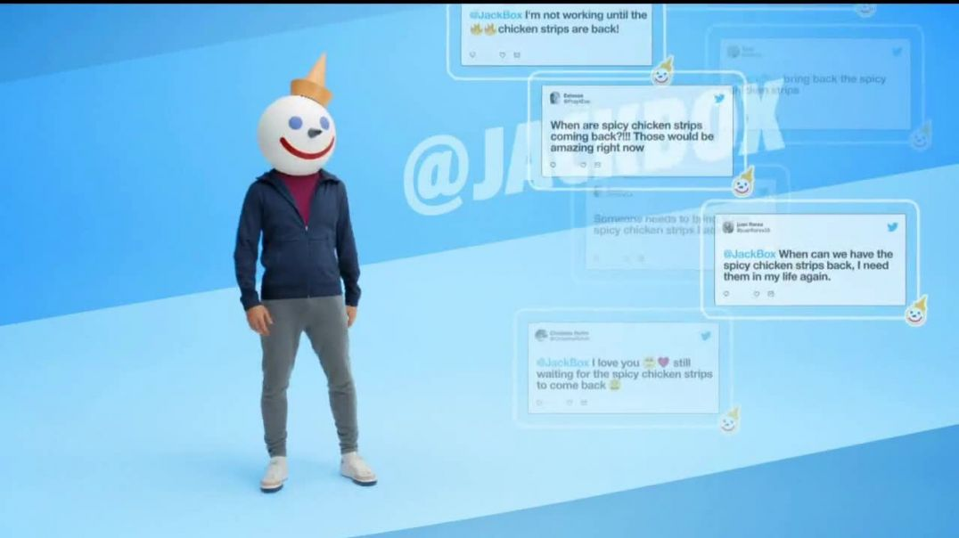 Jack in the Box Spicy Chicken Strips Combo TV Commercial Ad 2020, So Many Tweets