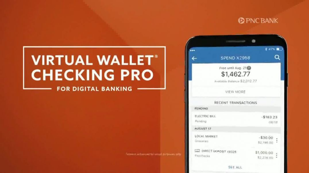 PNC Bank Virtual Wallet Checking Pro TV Commercial Ad 2020, Pizza Tracking