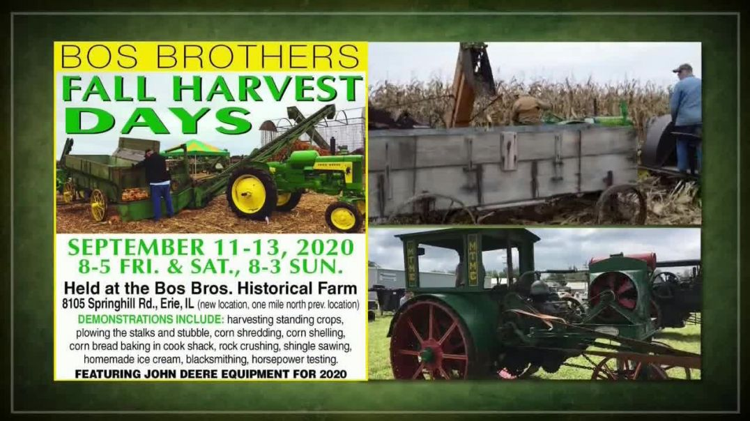 Bos Brothers Historical Farm, Inc Fall Harvest Days TV Commercial Ad 2020, Make Your Plans Now