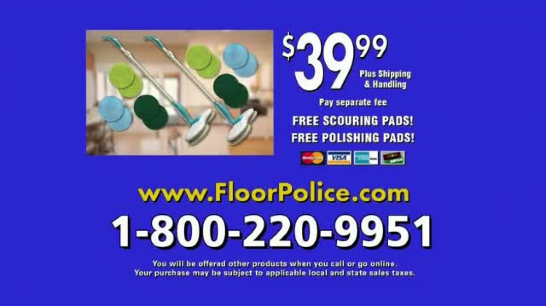 Floor Police Dual Spin Mop TV Commercial Ad 2020, Scrub Away Messes