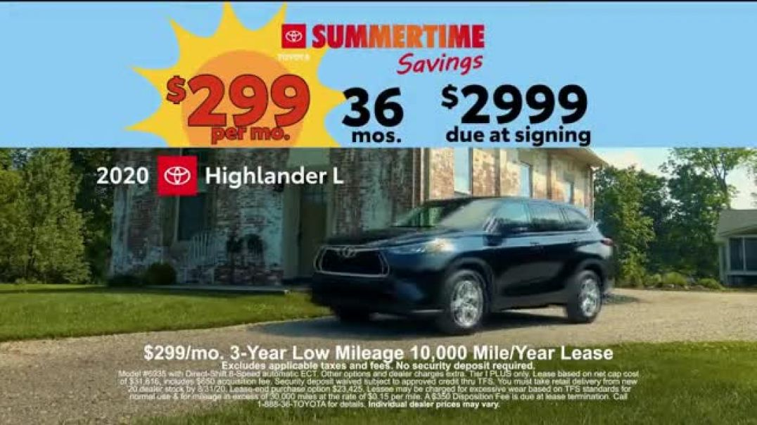 Toyota Summertime Savings TV Commercial Ad 2020, Savings Are Here