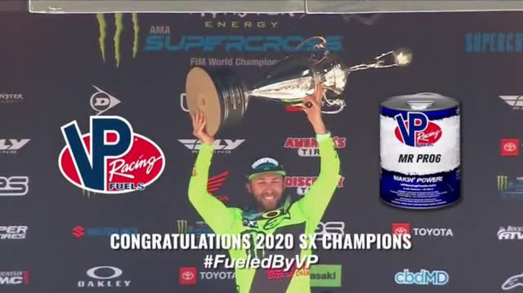 VP Racing Fuels TV Commercial Ad 2020, Supercross Champions Fueled By VP