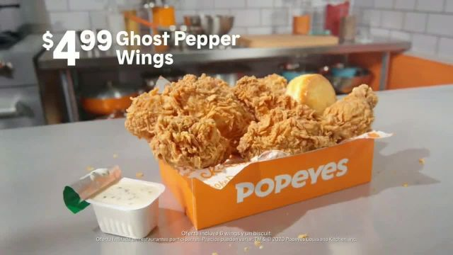 Popeyes Ghost Pepper Wings TV Commercial Ad 2020, El usuario @wilfilmsss