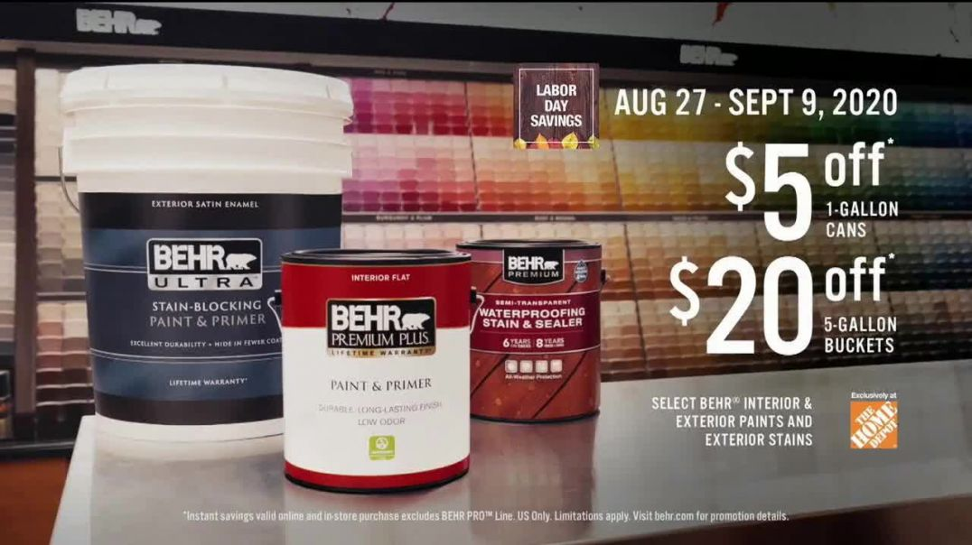 BEHR Paint Labor Day Savings TV Commercial Ad 2020, The Wall