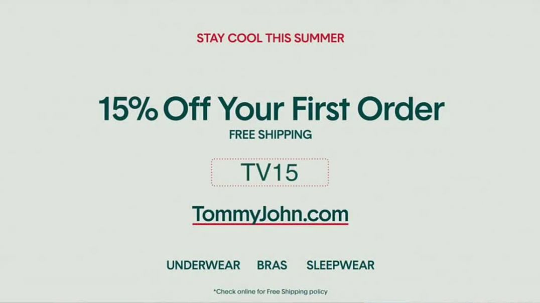 Tommy John TV Commercial Ad 2020, Sweat-Free- 15% Off