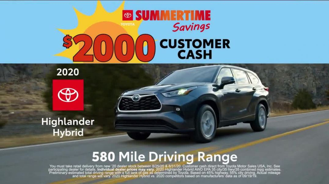 Toyota Summertime Savings TV Commercial Ad 2020, Savings Are Here]