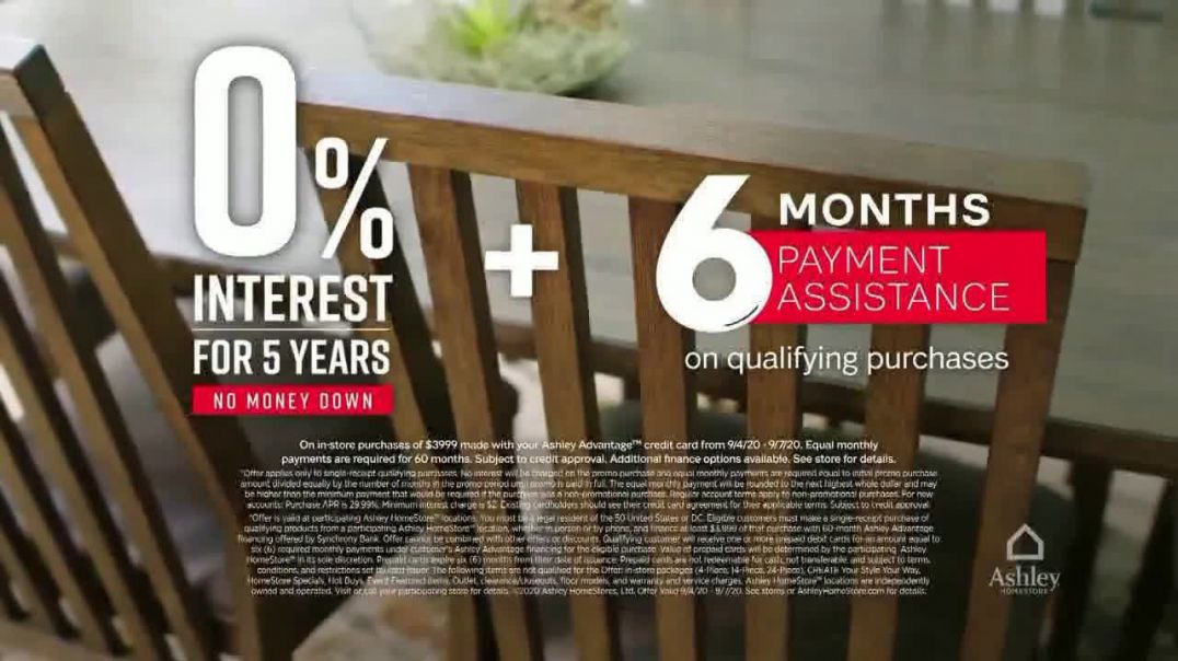 Ashley HomeStore Labor Day Sale TV Commercial Ad 2020, 25% Off and Financing