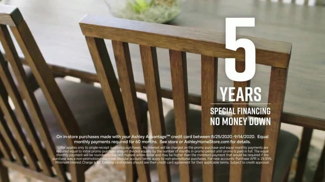 Ashley HomeStore Labor Day Sale TV Commercial Ad 2020, 30% Off and Five Years Financing