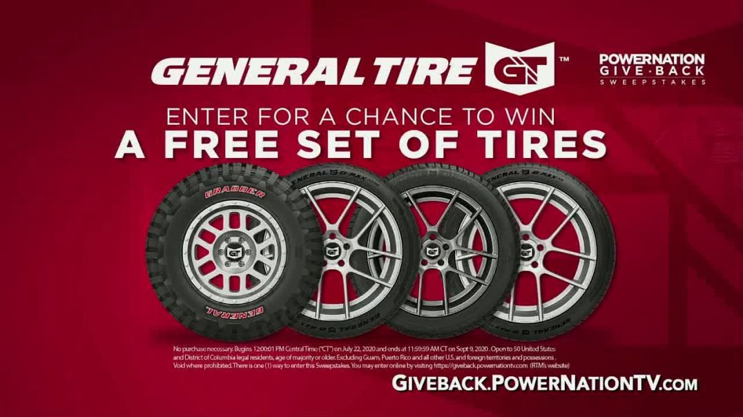 PowerNation Give Back Sweepstakes TV TV Commercial Ad 2020, Free Set of Tires