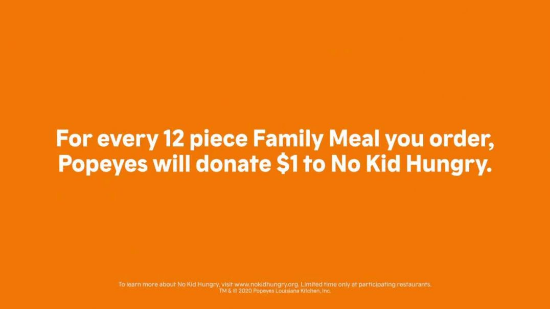 Popeyes Family Meal TV Commercial Ad 2020, No Kid Hungry- Everyone Is Family