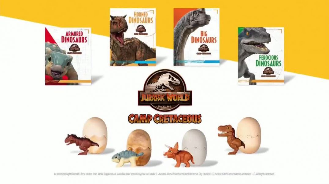 McDonalds Happy Meal TV Commercial Ad 2020, Jurassic World- Camp Cretaceous- Epic Adventure