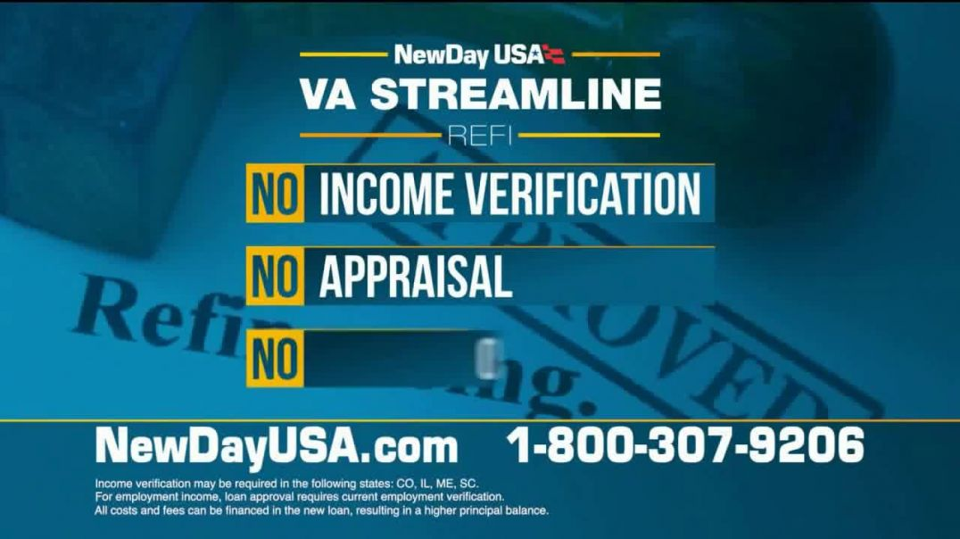 NewDay USA VA Streamline Refi TV Commercial Ad 2020, New All Time Lows
