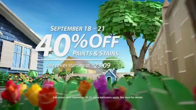 SherwinWilliams TV Commercial Ad 2020, Bring It Home 40% Off Paints & Stains